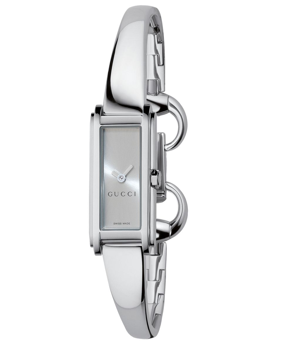 6fe8b5830 Gucci Watch, Womens G Line Collection Stainless Steel Bangle Bracelet