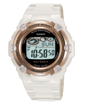 Baby-G Watch, Women's White Resin Strap BGR3000J-7A - Sports Watches