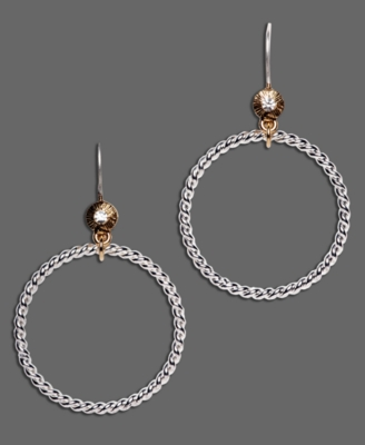 Monet Two-Tone Mixed Metal Hoop Earrings