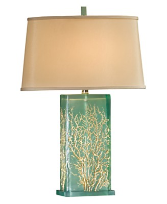 Regina Andrew Aqua Translucent Table Lamp :  beach home accents beach house table lamps