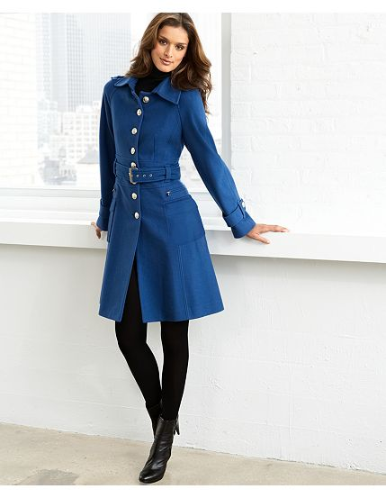 Laundry Wool Belted Military Coat