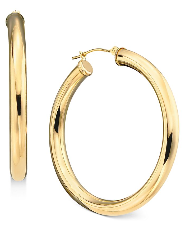 Macy's - 14k Gold Large Polished Hoop Earrings