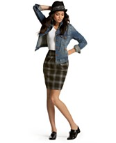 BCX Plaid Skirt