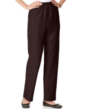 Alfred Dunner Pants, Pull On Straight Leg