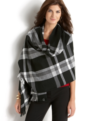 Charter Club Plaid Wrap