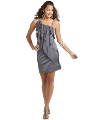 BCX Dress, Ruffle One Shoulder Prom Dress