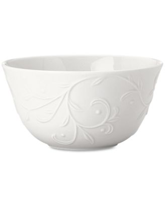 Lenox Dinnerware, Opal Innocence Carved Fruit Bowl