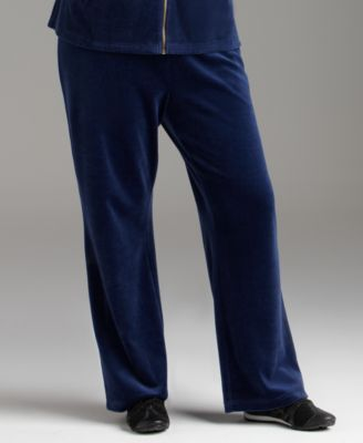 Women's Plus-Size Velour Pants