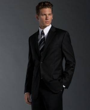 Alfani Jacket, Black Pinstripe