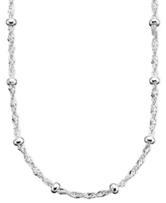 Sterling Silver Necklace, 18