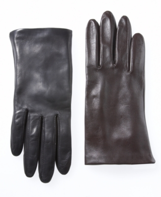 Alfani Gloves, Silk Lined Leather