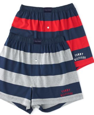 Tommy Hilfiger Mens Underwear Rugby Striped Boxer