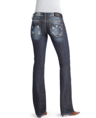 GUESS Jeans, Daredevil Boot Cut, Mariposa Wash