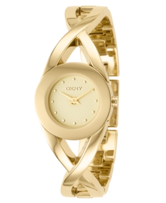DKNY Watch, Women's Goldone Ion Plated Stainless Steel Bracelet NY4714
