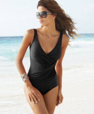 Miraclesuit Swimsuit, Oceanus Soft Cup One Piece DD Cup Women's Swimsuit