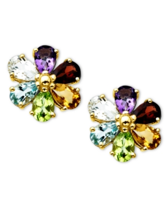 14k Gold Earrings, Multi Stone (5-1/2 ct. t.w.)