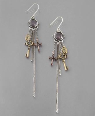Lucky Brand Earrings, Multi Charm