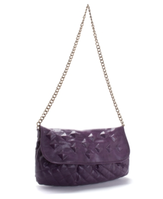 Rachel Rachel Roy Handbag, Quilted Flap Hobo, Medium