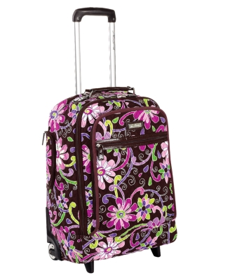 "Vera Bradley Suitcase, 19"" Purple Punch SuperLite Carry-On"