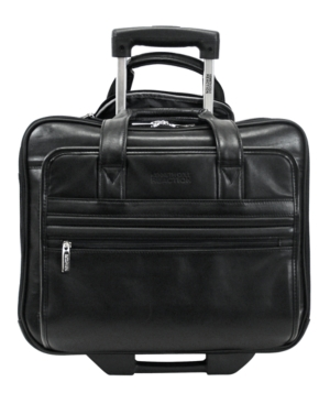 Kenneth Cole Reaction Wheeled Business Case, Manhattan Leather Laptop Bag/Portfolio