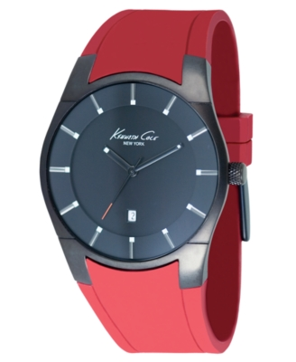 Kenneth Cole New York Watch, Men's Red Rubber Strap KC1629