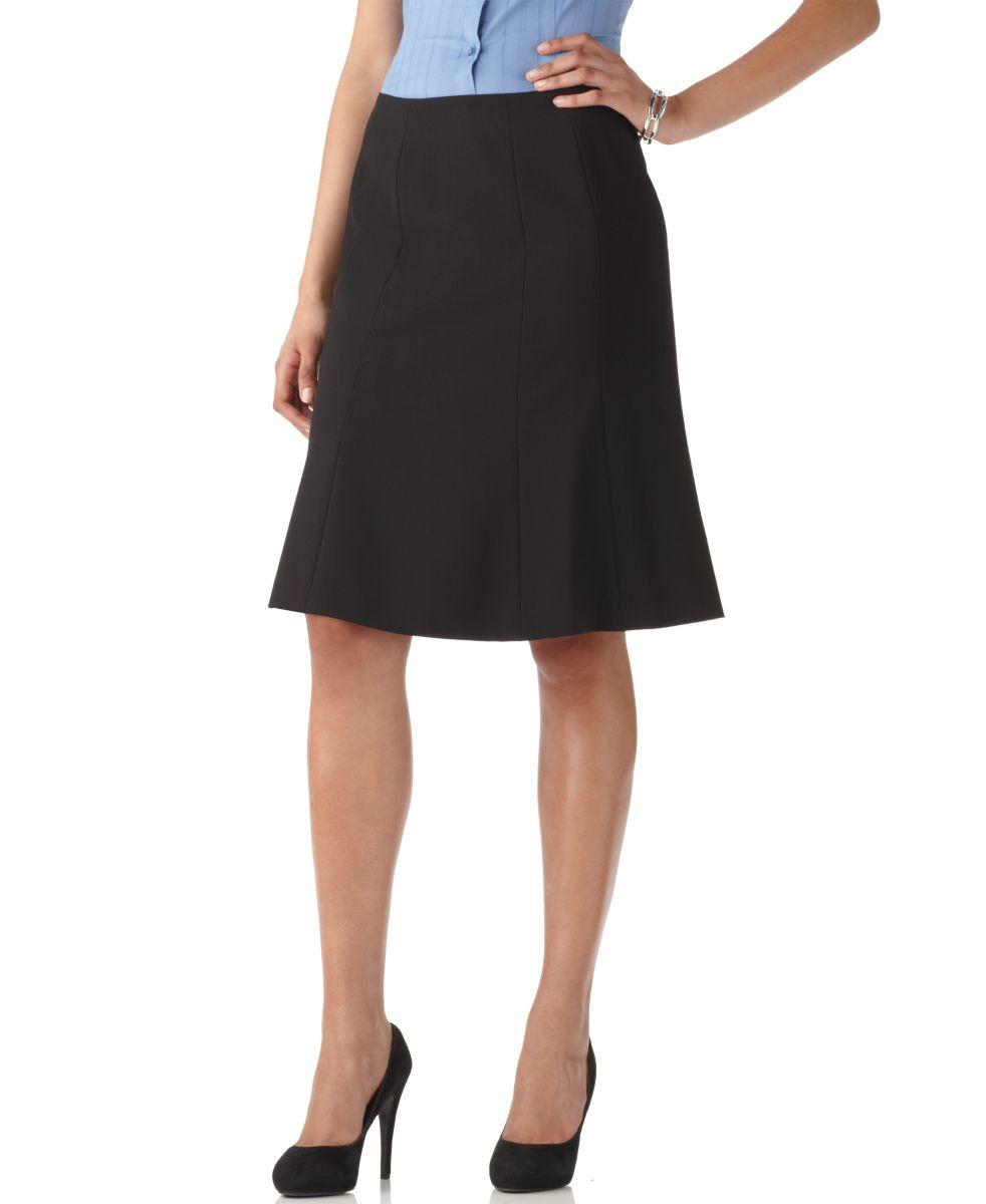 calvin klein new modern essentials black lined knee length