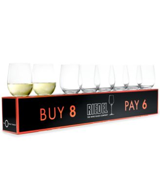 Riedel O Chardonnay Wine Glasses 8 Piece Value Set