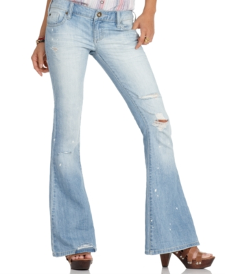 Roxy Jeans, True Love Flare Leg, Powder Blue Wash