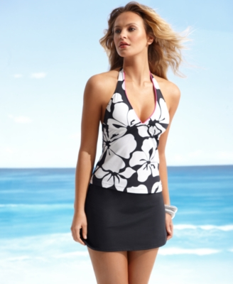 JAG Swimsuit, Tropical Halterkini Top Women's Swimsuit
