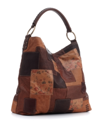 Lucky Brand Jeans Handbag, Slouch Leather Patchwork Hobo, Medium