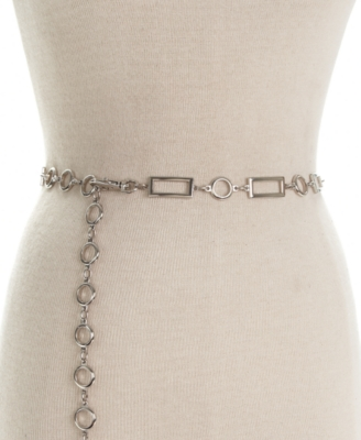 Style&co. Belt, Rectangle Circle Chain - Accessories