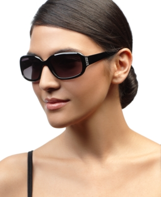 Nine West Sunglasses, Rectangle with Rhinestones