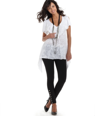 XOXO Top, Burnout Necklace Tunic