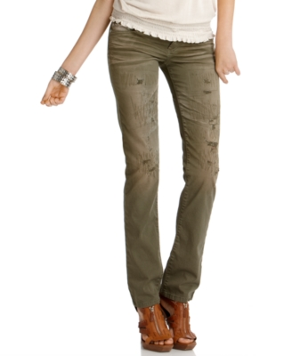 GUESS Pants, Trisha Distressed Straight Leg - Guess