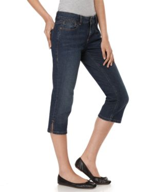 DKNY Jeans Cropped Jeans. Ludlow Downtown Blue Wash