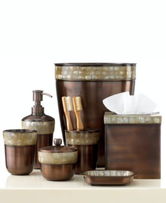 Paradigm Bath Accessories, Opal Copper Tissue Holder