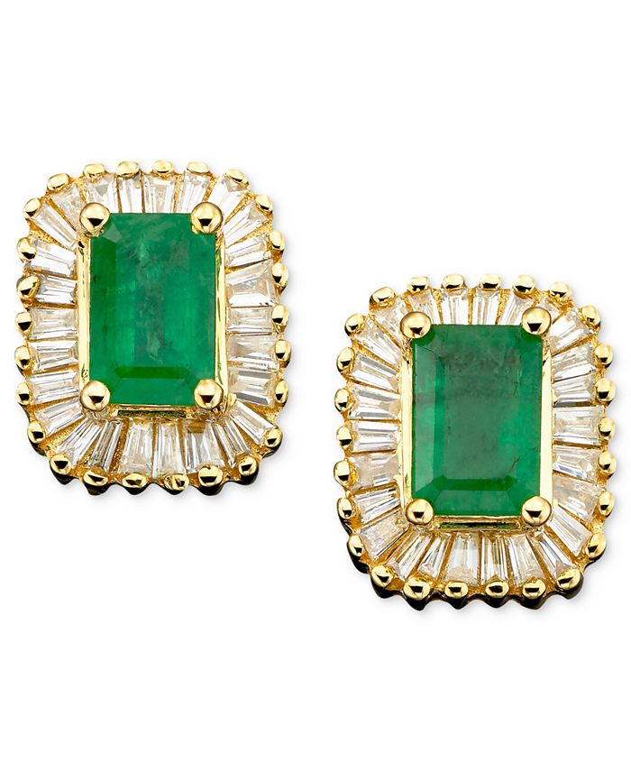 EFFY Collection - Emerald (1 ct. t.w.) and Diamond (5/8 ct. t.w.) in 14k Gold