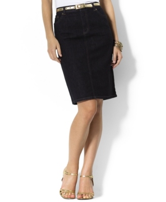 Lauren by Ralph Lauren Skirt, Lori Stretch Denim Pencil
