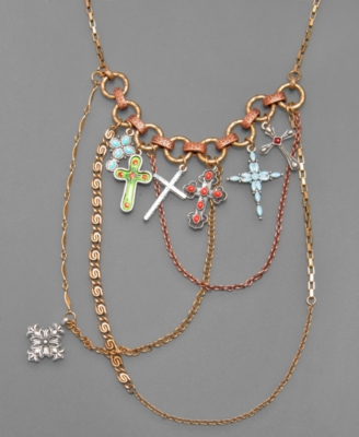 Lucky Brand Necklace, Cross Layer