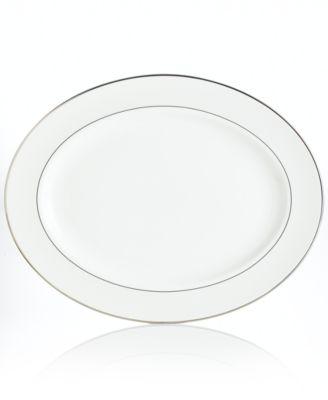 Lenox Dinnerware, Opal Innocence Stripe Large Oval Platter '16