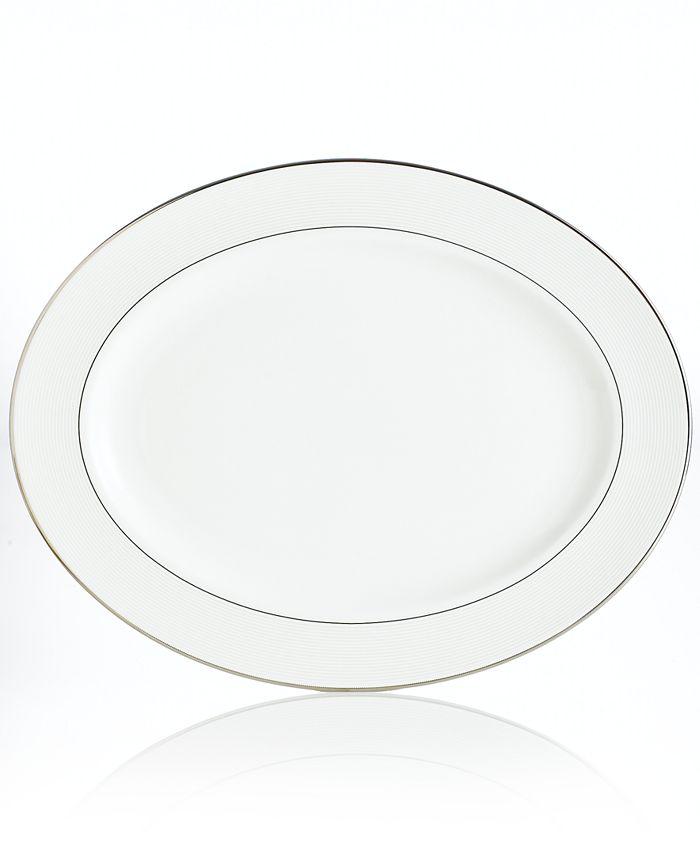 Lenox - Dinnerware, Opal Innocence Stripe Oval Platter