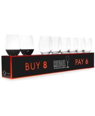 Riedel Wine Glasses, O Pay 6 Get 8 Cabernet & Merlot Set