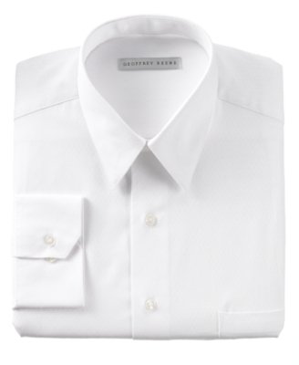 Geoffrey Beene Dress Shirt, White Diamond Texture - Dress Like Don Draper