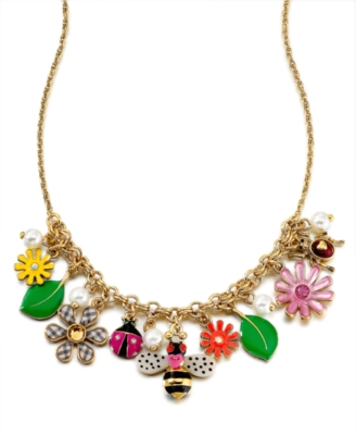 Betsey Johnson Necklace, Flower Girl