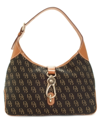 Dooney & Bourke Handbag, Signature Lock Crescent Bag - Printed Shoulder Bag