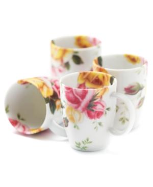 Royal Albert Dinnerware, Set of 4 Country Rose Mugs