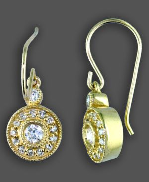 14k Gold Earrings, Diamond Drop (3/8 ct. t.w.)