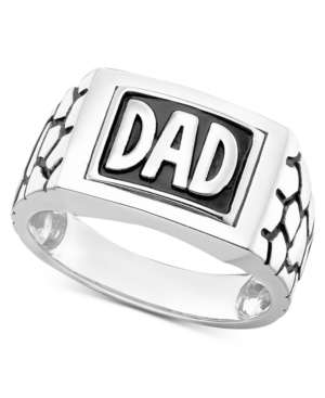 Men's Dad Reversible Ring in Sterling Silver