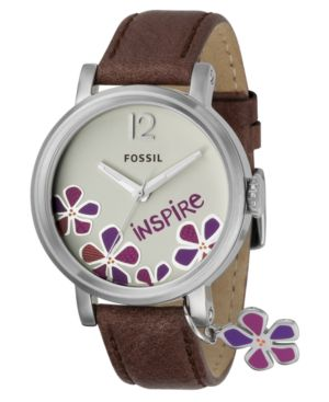 Fossil Watch, Women's Brown Leather Strap ES2577 - Fossil