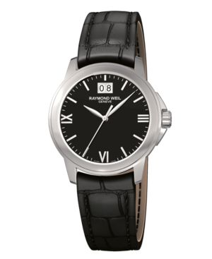 RAYMOND WEIL Watch, Men's Black Croc Embossed Leather Strap 5476-ST-00207